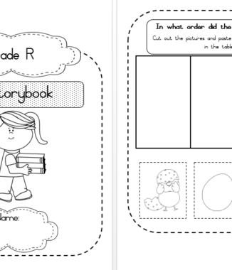 Beginning, middle and end of story Workbook