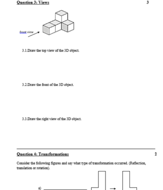 Grade 5 Mathematics test Term 4 – Paper 2