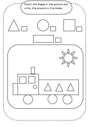 FREE Shapes and diamond worksheets