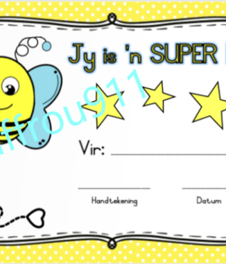 SUPER by sertifikaat / SUPER bee certificate