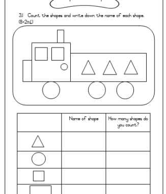 Grade 1 Mathematics assessment TERM 2 – Task 1 and 2