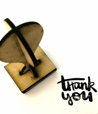 Thank you stamp – 3cmx4cm (Wooden handle)