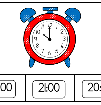 Digital time wall posters and worksheets