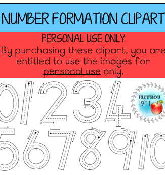– Number formation clipart (PERSONAL USE ONLY)