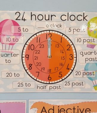 24 hour clock – A3 poster